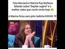 Tatá Werneck pergunta Marina Ruy Barbosa se os pelos de sua vagina são ruivos