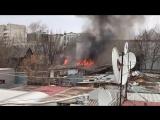 Пожар в районе рынка 24 апреля 2018