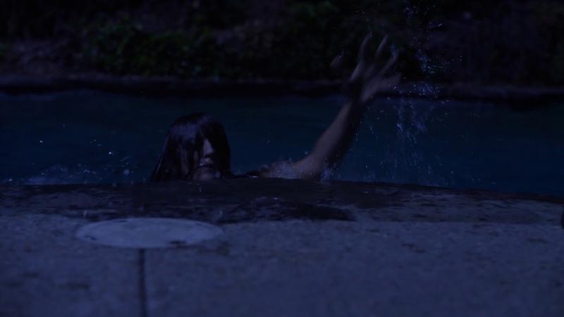 Woman drowned in pool death scene