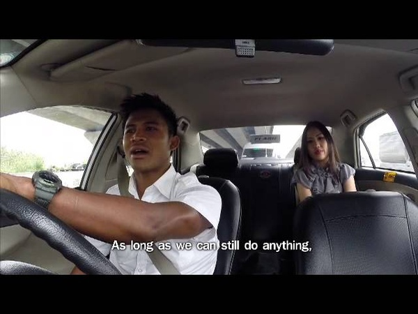 Buakaw drove a taxi seeking for dreams of Thai people