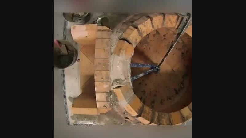 Купольная кладка печи детально