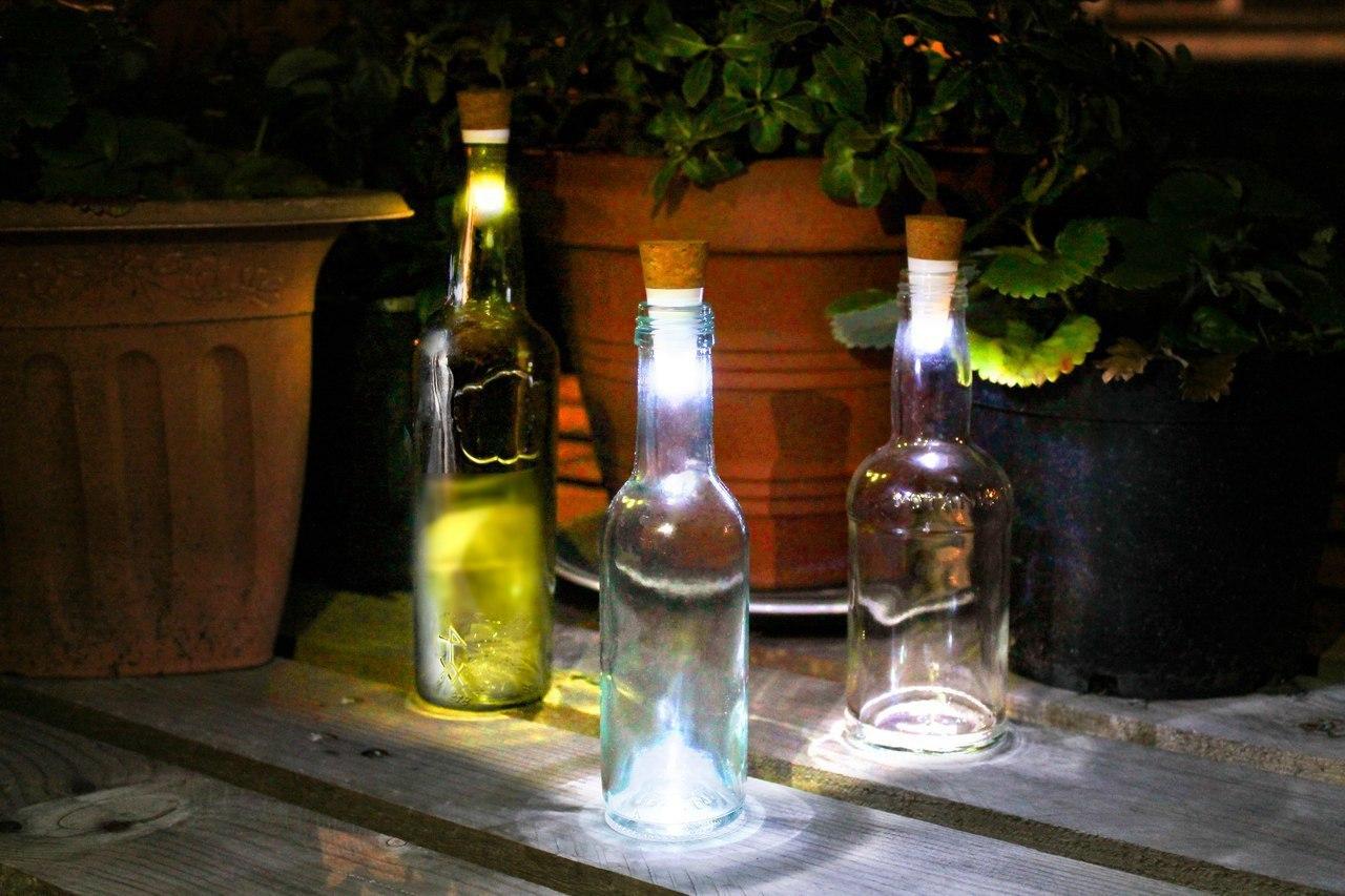 Подсветка для бутылки в виде пробки -