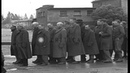Prisoners including a young boy at Dachau Concentration Camp in Germany. HD Stock Footage
