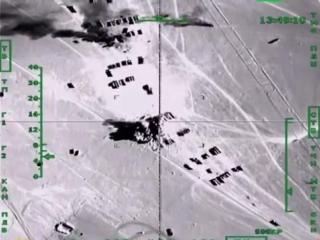 эпичный налет Российской авиации на коллону грузовиков с нефтью для ИГ