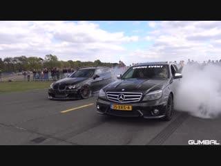 Крутые аппараты 900HP BMW 335i (E91) - CRAZY REVS BURNOUT!