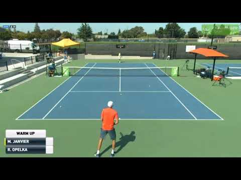 One Million Unforced Errors During The Warm-Up (Opelka - Janvier)