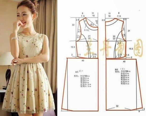 Выкройки платьев (5 фото)