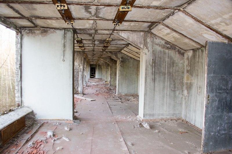 Внутри здания в Припяти