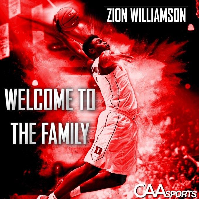 Зайон Уильямсон подписал контракт с агентством CAA