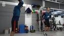 La Selección al trabajo en el gimnasio tras aterrizar en Gran Canaria