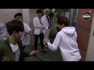 no one asked but heres a video of hobi kicking taes butt, tae kicking jimins butt and jimi