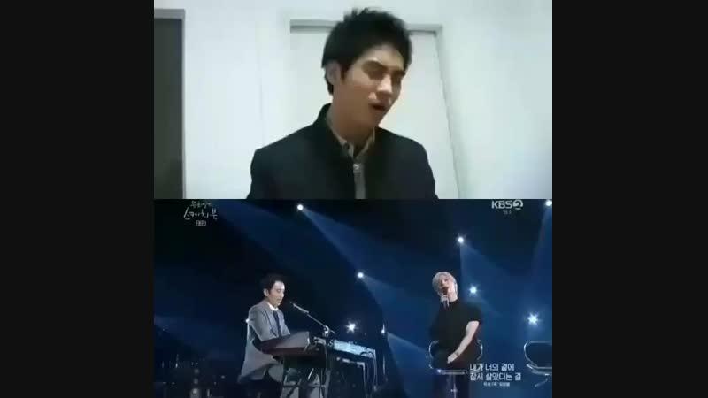 Kim Jonghyun and Lee Taemin поют одну и ту же песню.