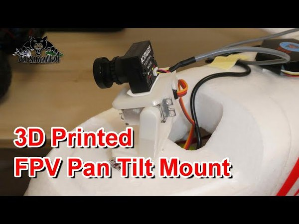 3D Printed FPV Pan Tilt Mount For FPV and HD Action Camera