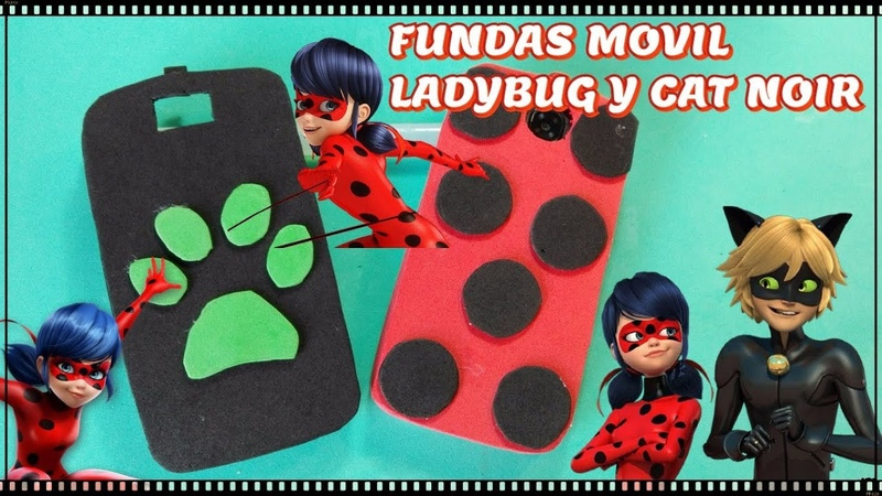 Funda movil Miraculous Ladybug y Cat Noir TUTORIAL- Lolicrafts