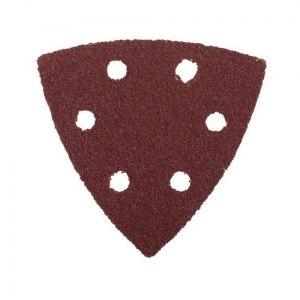 Треугольник шлифовальный универсальный на велкро основе, 6 отверстий, Р40, 93х93х93мм, 5шт   STAYER