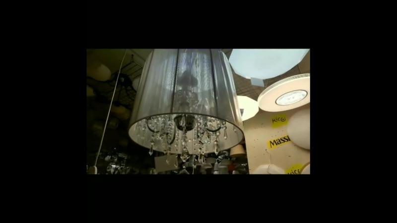 Доброе утро! Чудесная люстра с декором из хрусталя и абажур выполненный из нити🤩 В коллекции 2 цвета белый и черный до 16кв.м ВО