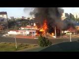 Взрыв бензоколонки в центре Махачкалы засняли на видео!!! Жесть