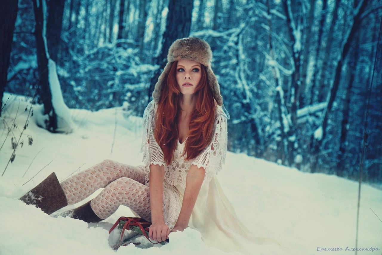 Идеи зимнее фото девушек