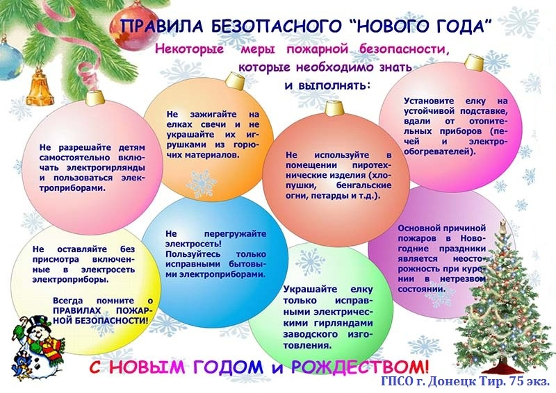 Правила безопасного Нового года