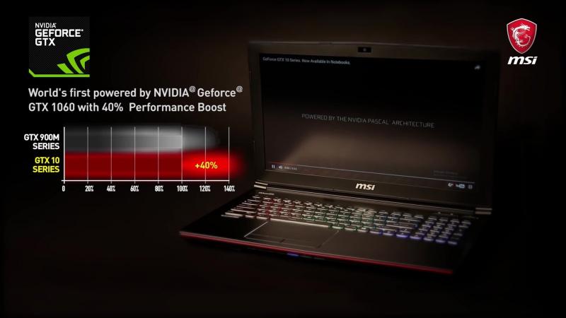Ігрові ноутбуки MSI GE62 та GE72 на NVIDIA GeForce GTX 10501050 Ti