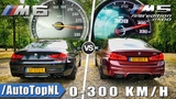BMW M5 F90 vs BMW M6 F06  0-300kmh ACCELERATION SOUND &amp TOP SPEED AUTOBAHN POV by AutoTopNL