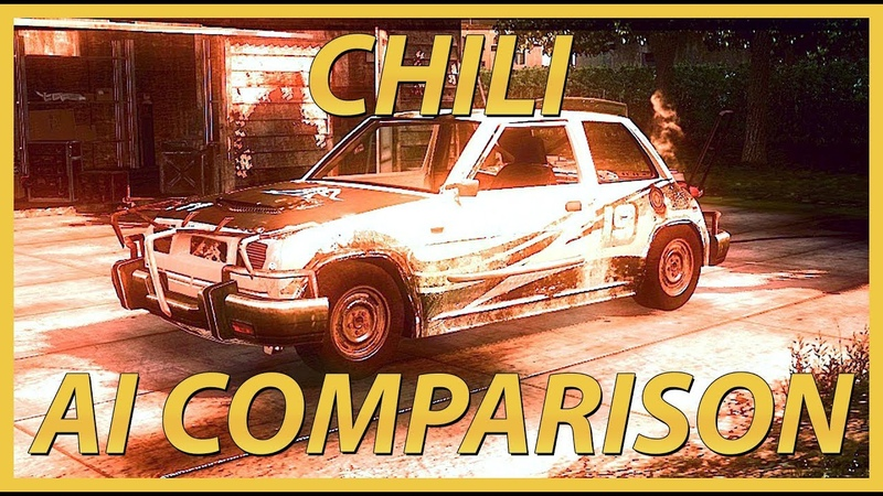 FlatOut: Ultimate Carnage (2007) | FWD Chili (Rear Mid-Engine Renault 5 Turbo) - Player vs AI Vehicle (Hack) Comparison.