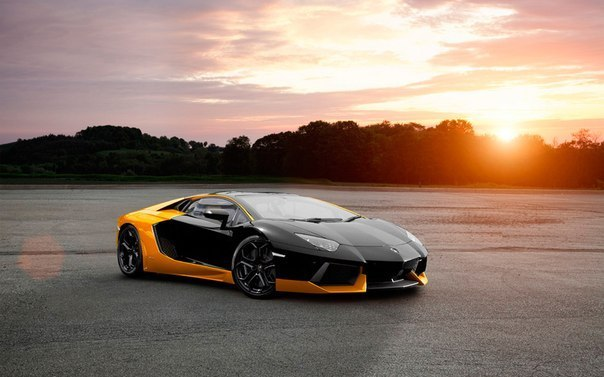 Lamborghini Aventador Yellow and Black