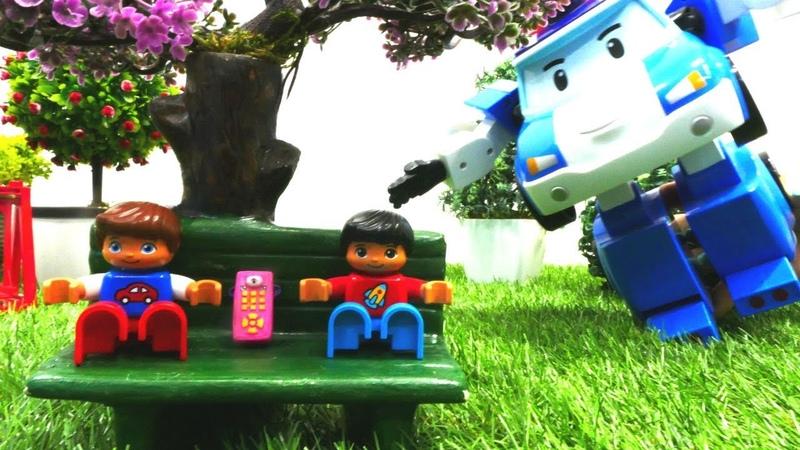 Robocar Poli ve Lego Duplo telefon şakası Araba oyunları