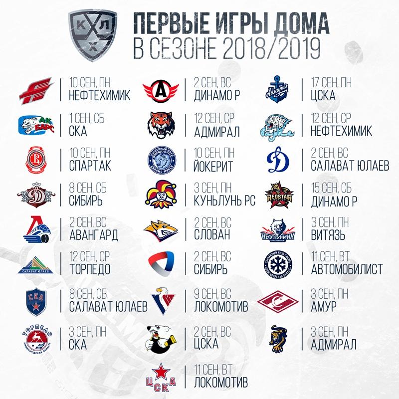 КХЛ представляет расписание матчей нового сезона
