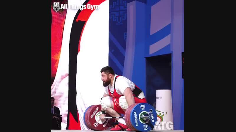 Лаша Талахадзе рывок 217 кг
