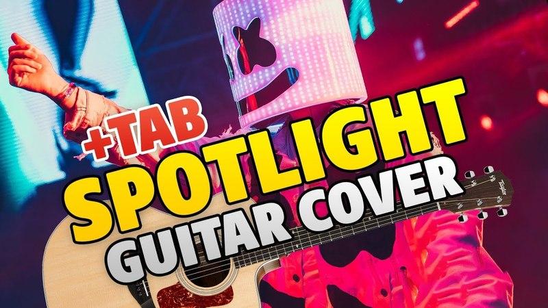 Marshmello x Lil Peep – Spotlight (fingerstyle guitar cover TAB KARAOKE)