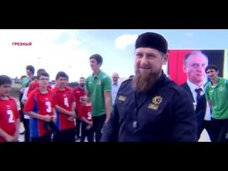 Рамзан Кадыров и Николай Патрушев приняли участие в закладке капсулы под новый спортивный комплекс