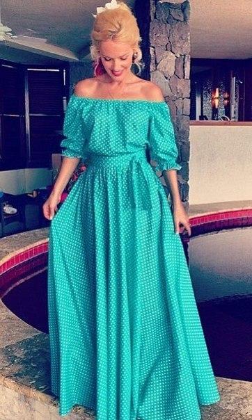 Летнее длинное платья с выкройкой