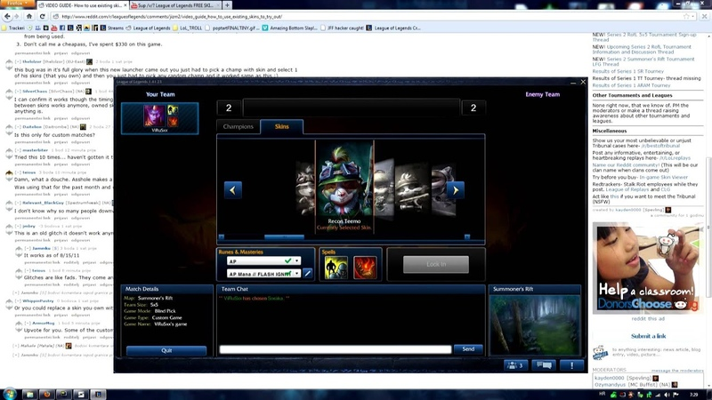 League of Legends - Skins glitch OUTDATED