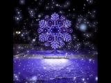 Новогодняя снежинка на Красной площади в Рыбинске