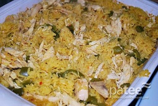 Рис с окорочком в духовке с фото