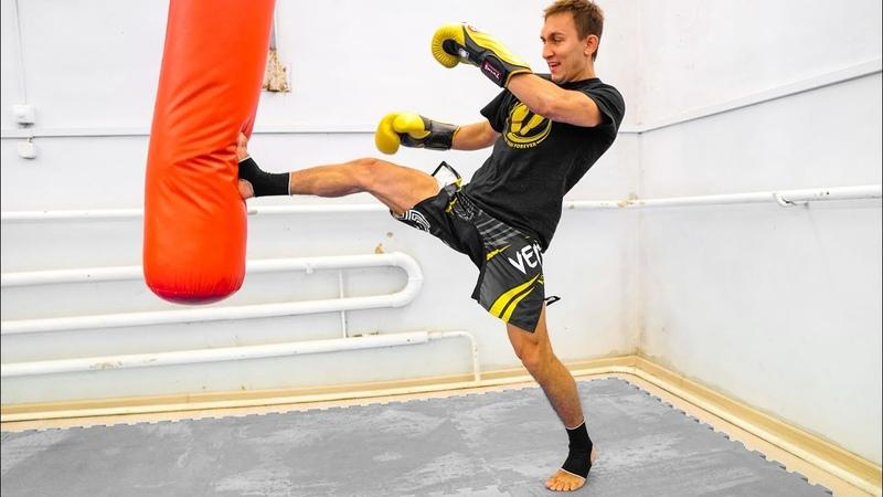 2 хорошие связки с прямым ударом ногой - Комбинации ударов в тайском боксе