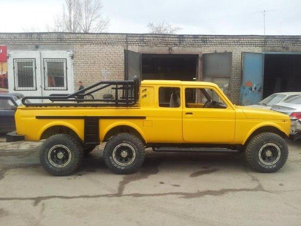 Mercedes G 63 AMG 6x6? Lada Niva 6x6 rarita za 6 645 eur!