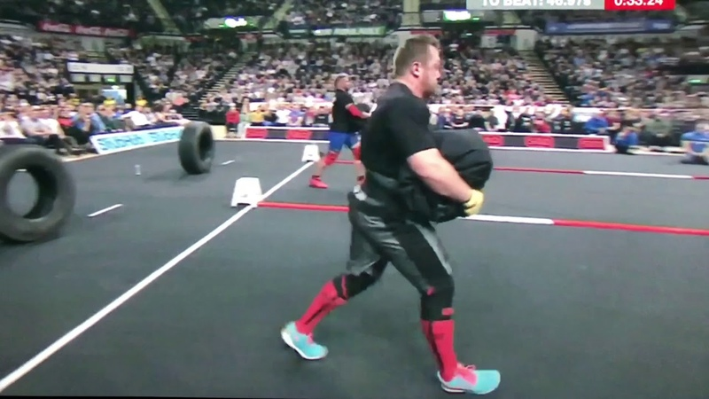 Terry Hollands vs Adam Bishop Loading Medley at Britain's Strongest Man 2018
