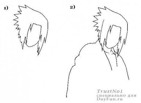 как рисовать аниме парней: