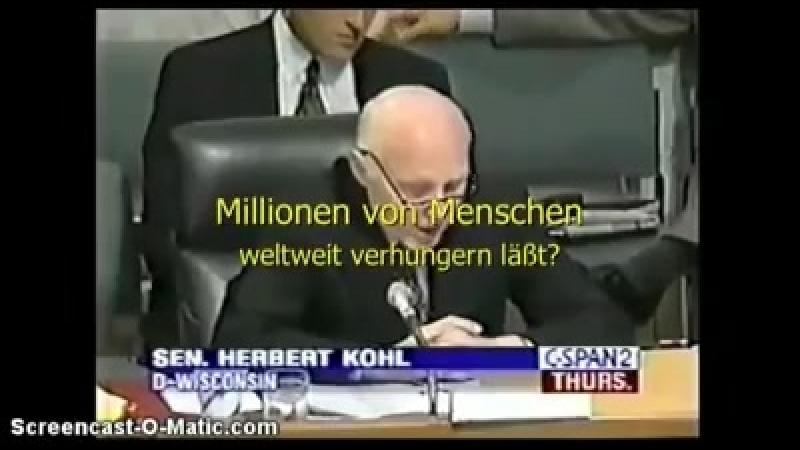 Senator Herbert Kohl aus Wisconsin, USA berichtete 1995 über die künstliche Wettermanipulation sowie Wetterwaffen