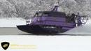 Аэровездеход Нерпа зимой по воде и снегу. Аэробот, аэролодка, свп.