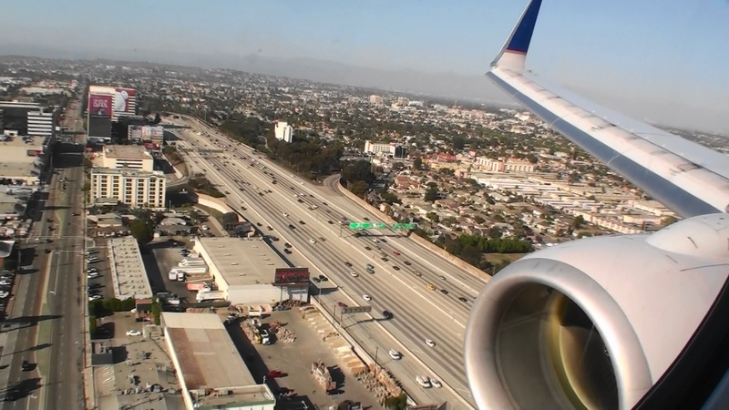 Fantastic First Class HD Boeing 737-800 Landing In Los Angeles On United Airlines