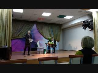 Инна Кабыш и Николай Сахаров в библиотеке 127 ЮВАО