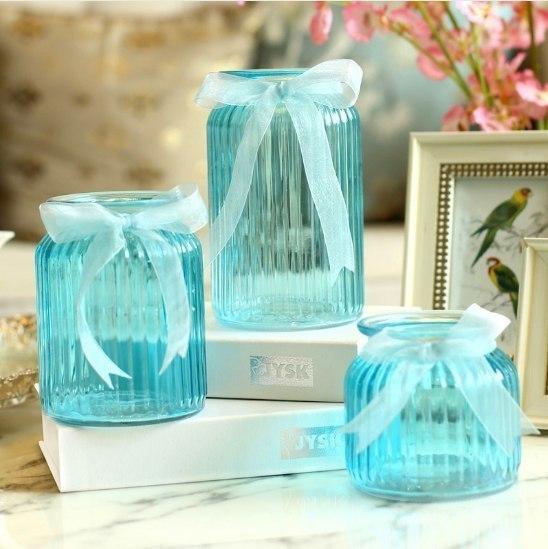 Стеклянные вазочки для декора -