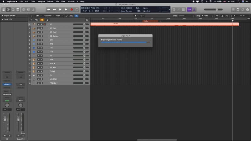 How to export multitrack in Logic Pro X