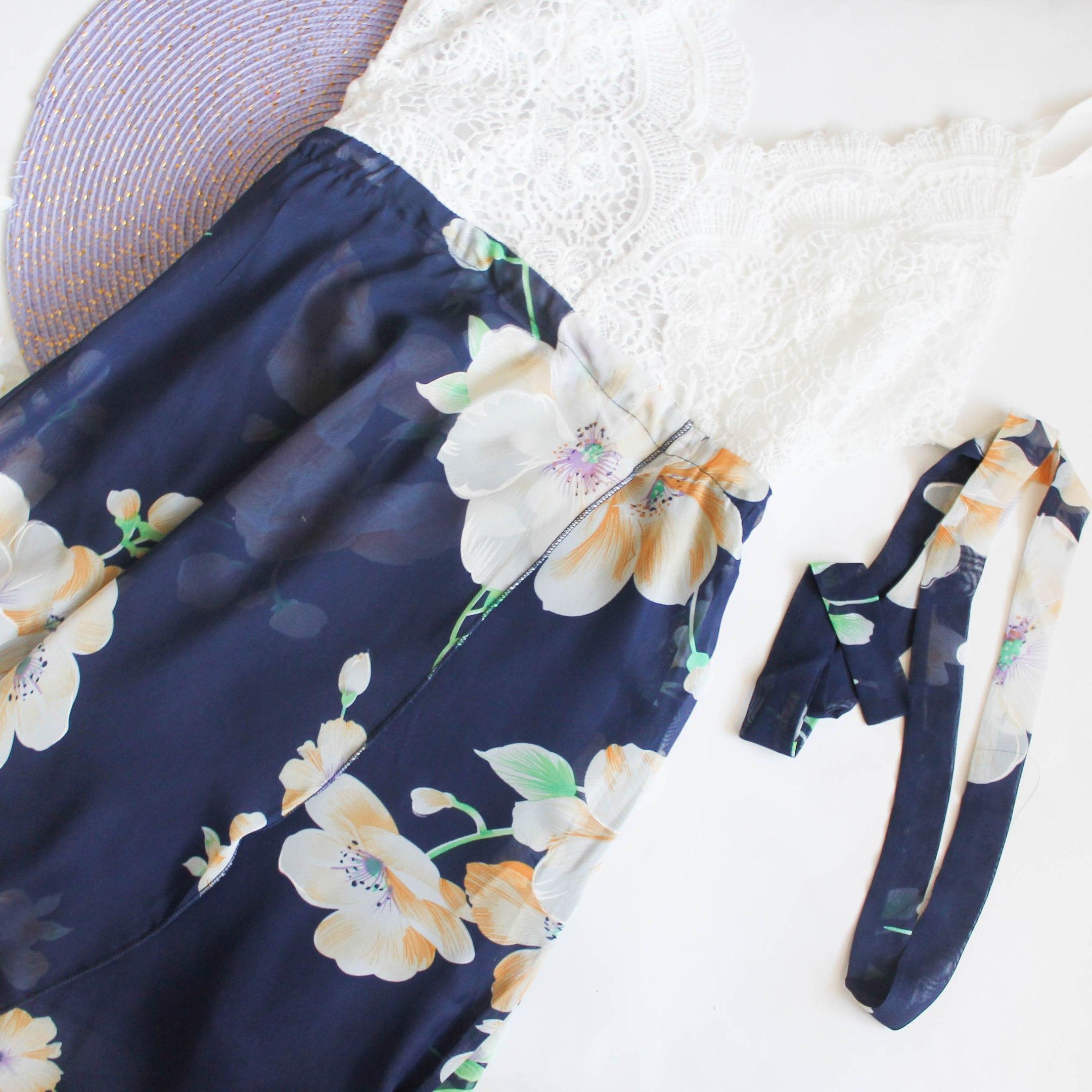 Красивое летнее платье с открытой спиной