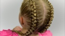 HOW TO Dutch Boxer Braids Tutorial Quick and Easy hairstyle for little princess 49