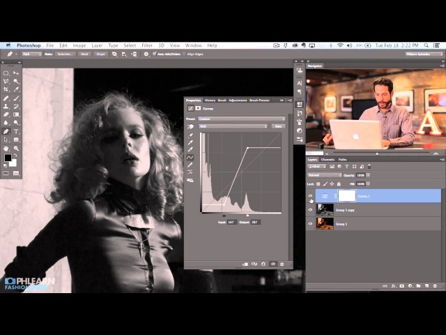 KHow to Create a Black White Image in Photoshop (Part 2)\\lk