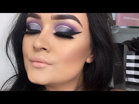 Maquillaje de ojos Morados medio pliegue Marcado | Paso a Paso | Monika Sanchez